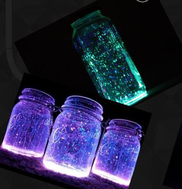 Creating fairy glow in jars