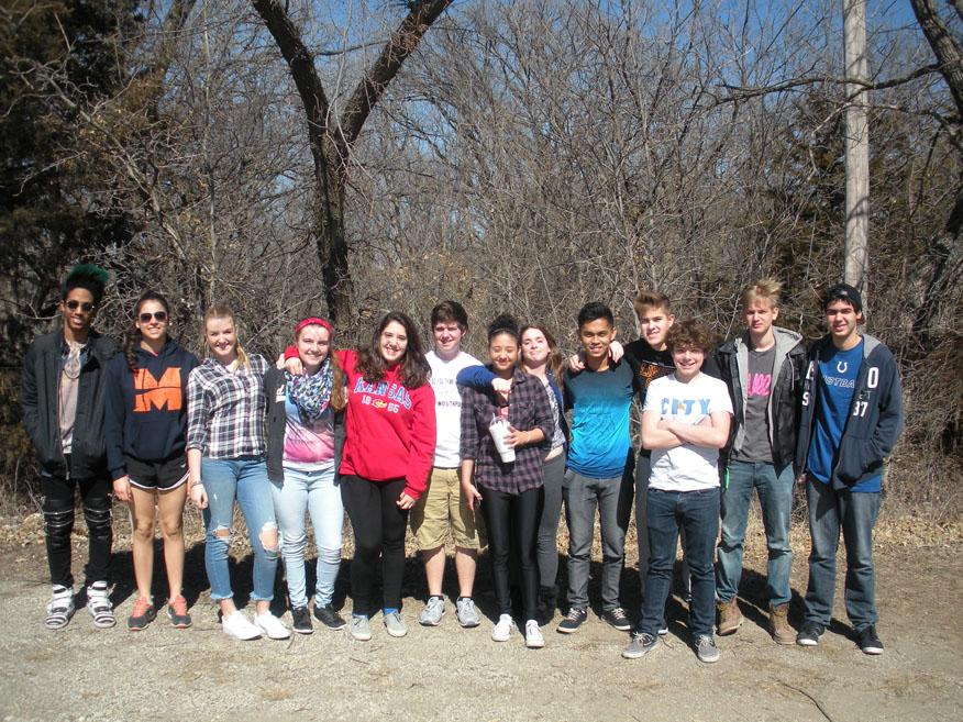 AFS club meets other clubs from around Kansas at their Round Up activity.