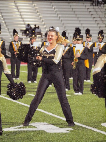 Alea Fellows, senior, dancing at the halftime show.