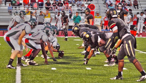 The Trojan defense head to head with the Highland Park offense.