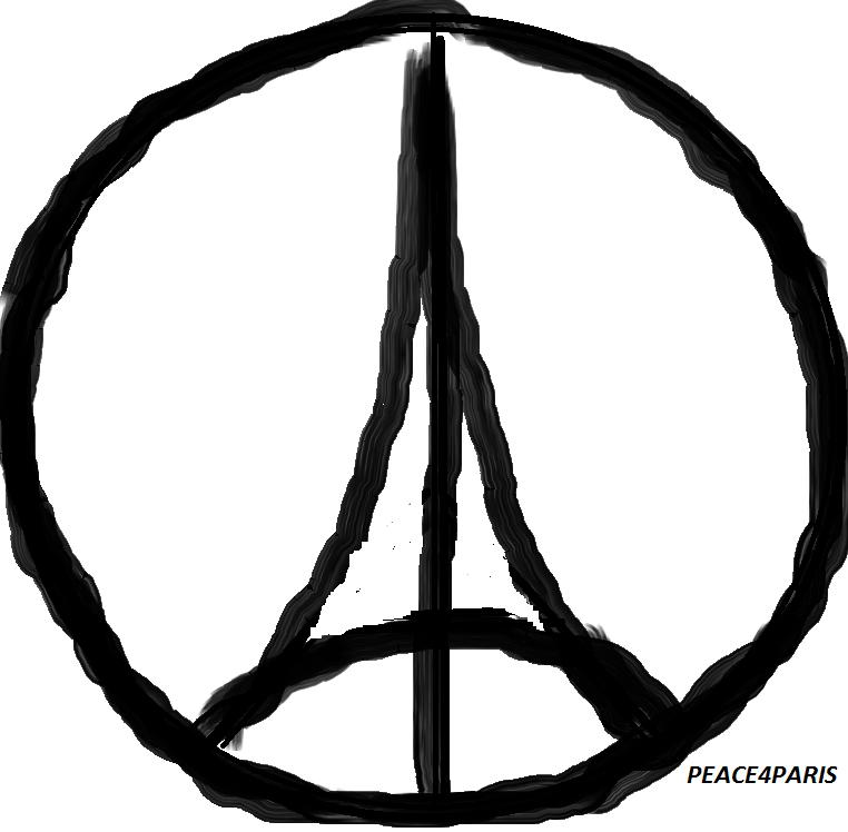 The Pray for Paris logo used after the attacks.