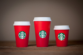 The new design for Starbucks holiday cups