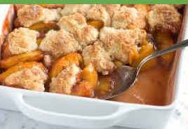 Steps to making peach cobbler