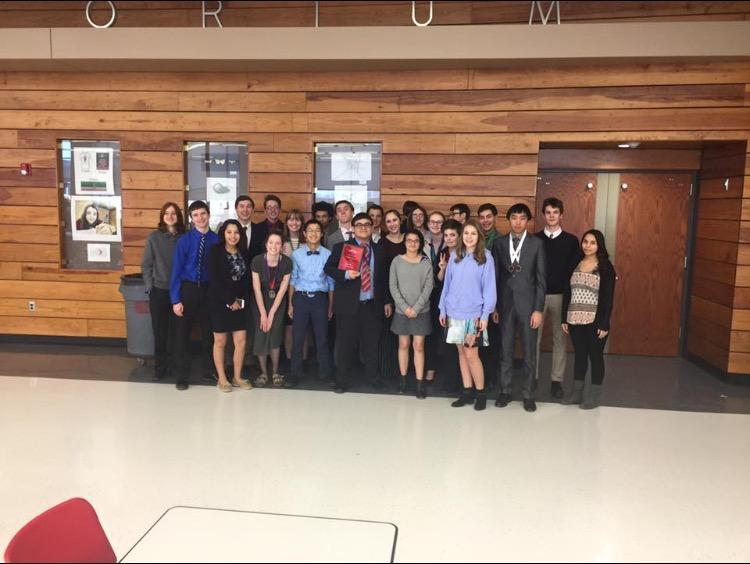 Forensics Team at their first tournament at Shawnee Heights