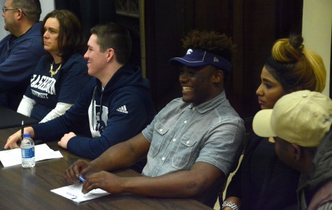 Football players commit to colleges