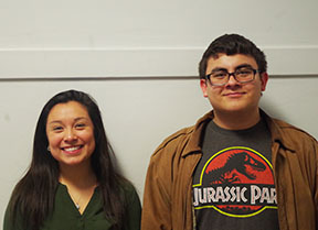 Gabby Lopez (left): It feels pretty great and I feel honored. Thank you for voting it means a lot. Brian Truesdell (right): I was caught rather off guard however it feels quite nice. Thank you very much for liking me and dont do drugs.