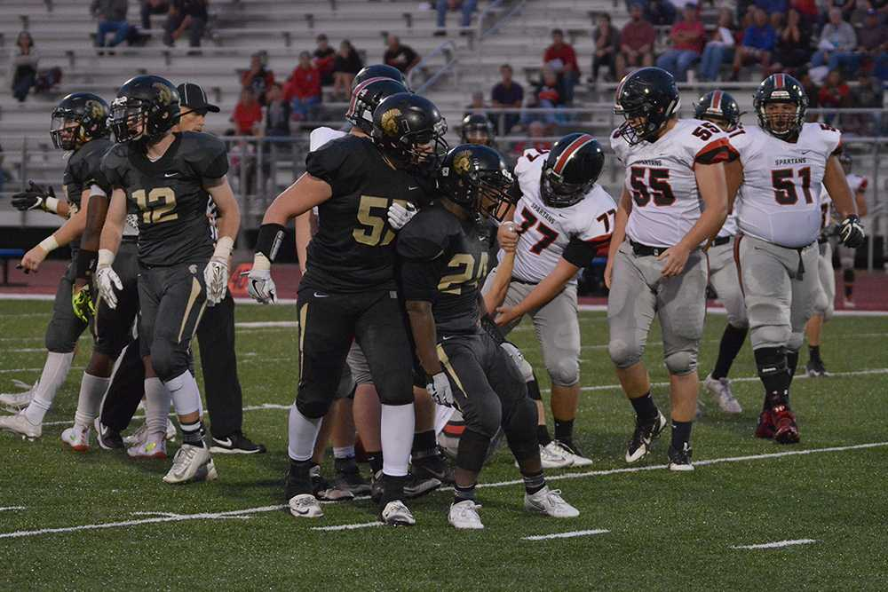 Senior lineman Billy Wagemaker (57) and senior nose tackle Bryce