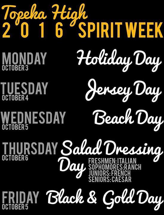 Homecoming Spirit Week Themes