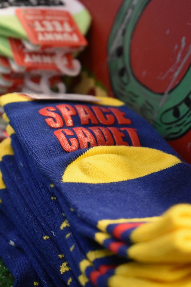 These Space Cadet socks, available at Hobbs, are one of many unique items sold in the store.
