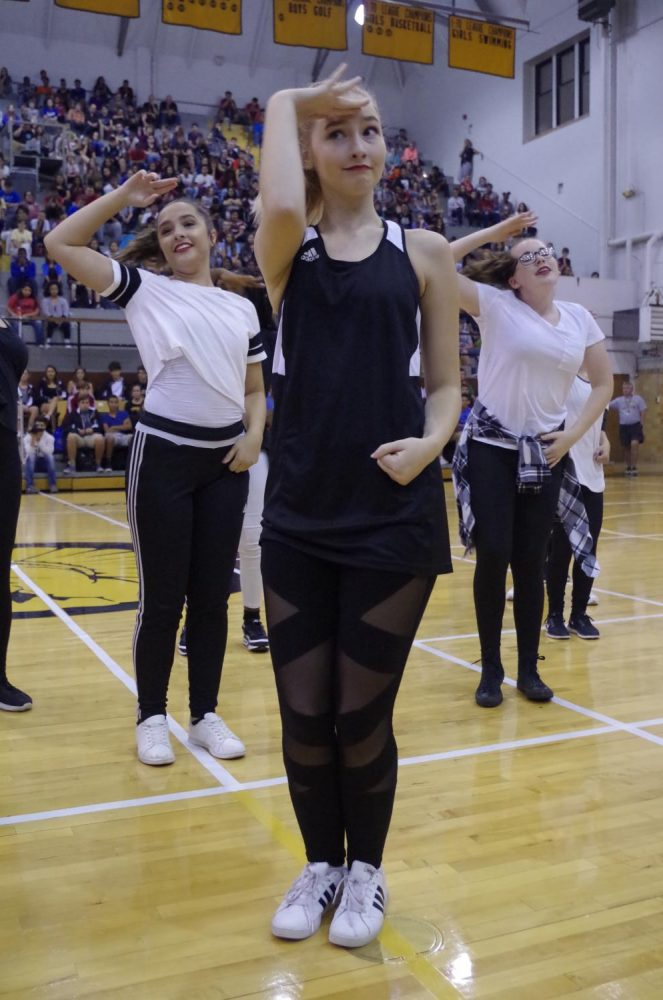 Sabrina Humpert, senior,  is one of only two seniors on the dance team.