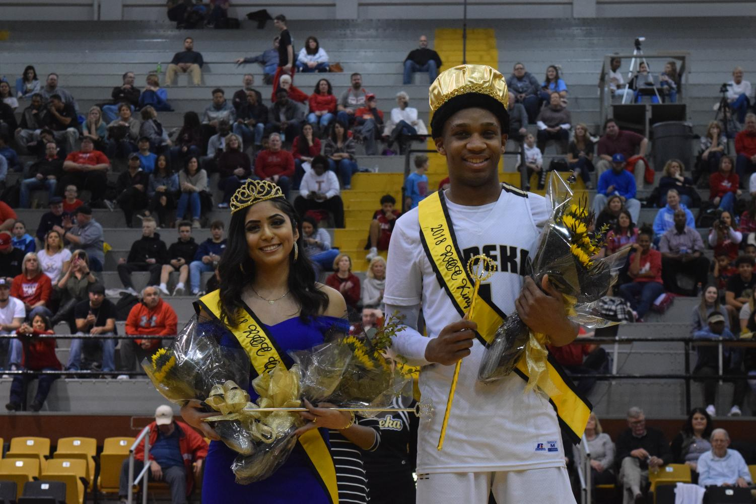 Lily Espinoza and Larry White crowned King and Queen