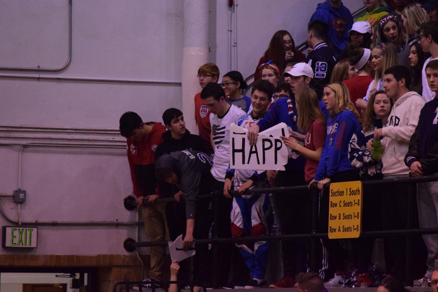 Topeka+West+student+section+after+their+sign+was+ripped.+