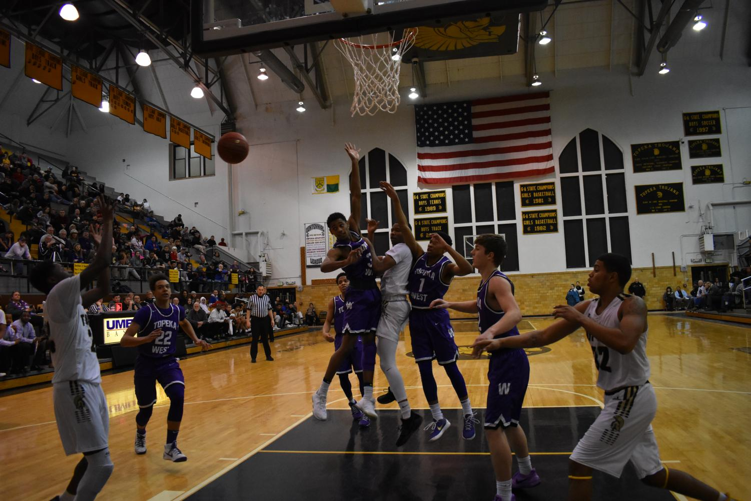 Topeka High and rival team Topeka West faced off on February 6. Topeka High lost by 12 points.