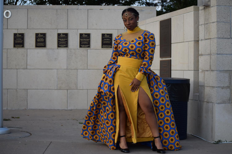 Amarachi+Nwakpuda%2C+candidate%2C+wowed+the+crowd+with+her+self-designed+dress.
