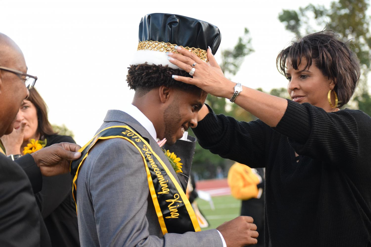Philip+Canady+is+crowned+Homecoming+King.
