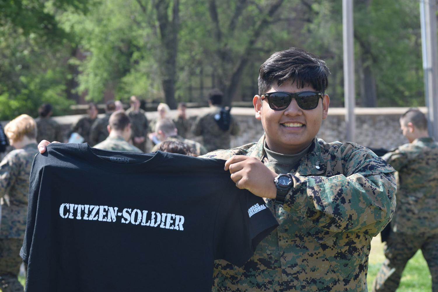 Cadets+who+went+on+the+ride+were+gifted+National+Guard+T-Shirts+and+coffee+mugs.+