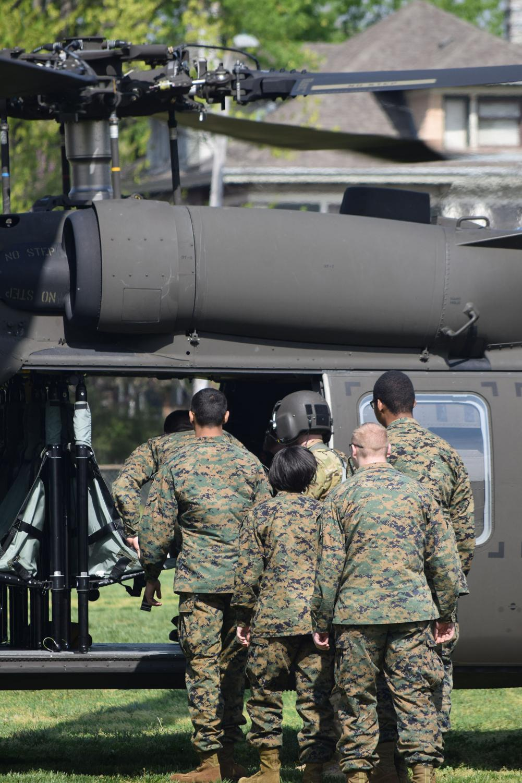 Cadets+board+the+Black+Hawk.