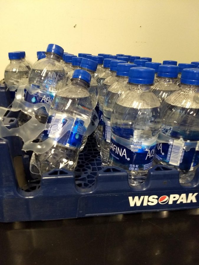 Cases of Aquifina water bottles were provided to every classroom across the 501 district when drinking fountains were closed because of Covid 19.