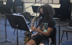 Jaziah Mack is a saxophonist in the freshman band