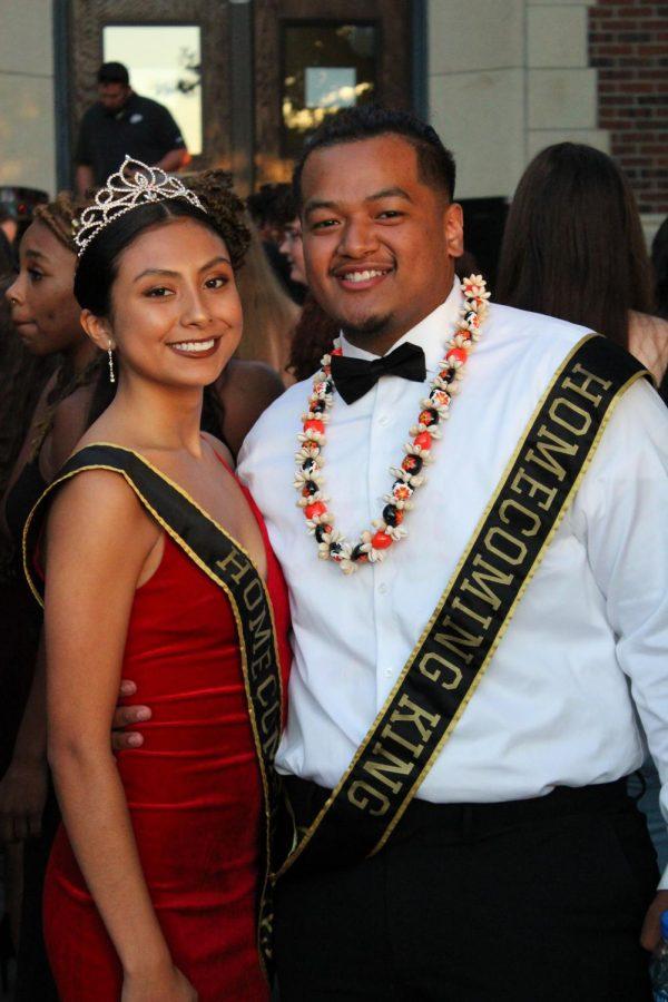 Isela Zuniga and Dexter Soukon at the homecoming dance.
